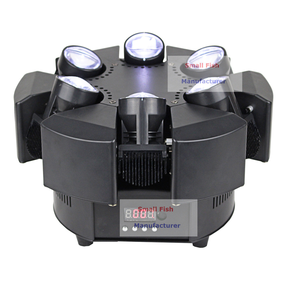 Image 5 - 6X10W RGBW 4IN1 LED Beam Lights 6 Heads Unique Beam Moving Head Strobe Lights DMX 17/38 Channel Professional Dj Bar Party Lights-in Stage Lighting Effect from Lights & Lighting
