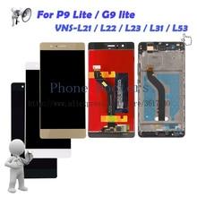 Купить онлайн Полный ЖК-дисплей дисплей + Сенсорный экран планшета Ассамблея + рамка для Huawei P9 Lite/G9 Lite VNS-L21/L22 /L23/L31/L53
