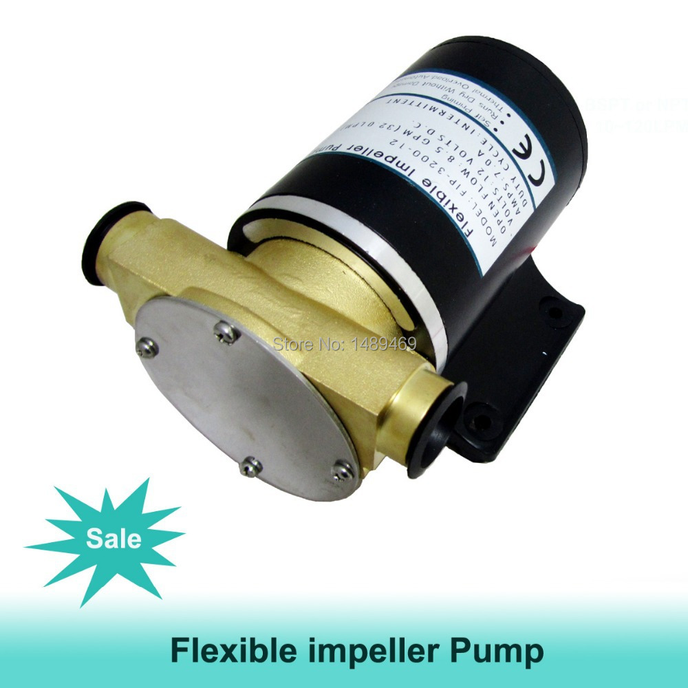 High flow 30L flexible impeller pump/Vane pump for pumping the sewage water from deck/yacht or wash down the deck free shipping ric aficio 1013 1515 feeler b04 44183
