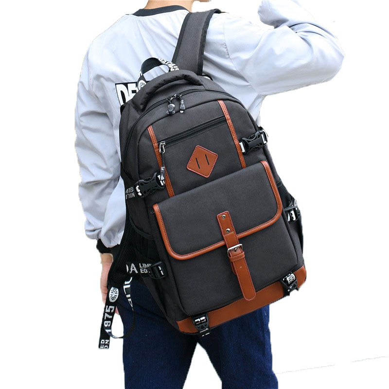 청소년을위한 AOLIDA 옥스포드 배낭 소년 학교용 백팩 학생용 학교 가방은 15.6 인치 노트북 남성용 책가방에 적합합니다.