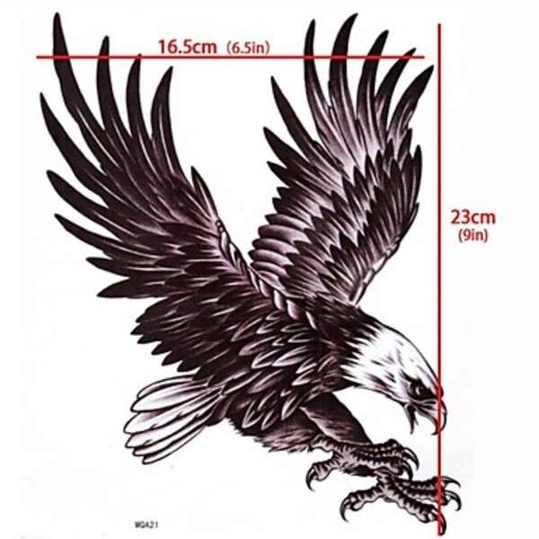 Keywest 1 Unid Las Alas Del águila Flying Eagle Tattoo Stickers