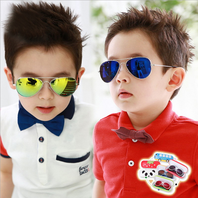 New Look Fashion Child Sunglasses Boys Coating Aviator