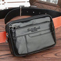 Men Genuine Leather Cowhide Fanny Pack Travel Famous Brand Male Waist Bag Hip Belt Cell/Mobile Phone Cigarette Case Purse Bags