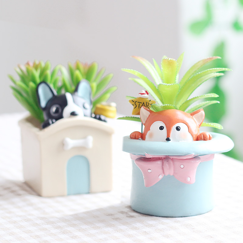 Cartoon animal plant pot 1