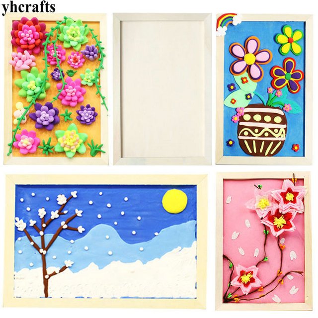 2PCS/LOT.wood picture frames Photo frame Drawing toys Early learning ...