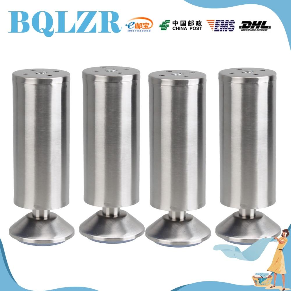 BQLZR 4 pcs Chrome Metal Feet Furniture Sofa Table Cabinet Corner Legs 5.9