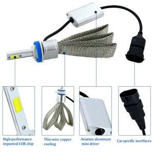 Image 4 - 2 Chiếc H4 LED H7 H11 H8 Đèn Pha Ô Tô Bóng Đèn 9005 HB4 9006 H1 H9 H10 H16 (JP) HB3 LED Đèn COB Chip Tự Động Đèn Sương Mù 6000K 12V