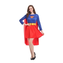 Ladies Super Hero Superman Costume for Women Fancy Halloween Party Carnival Costumes Cosplay