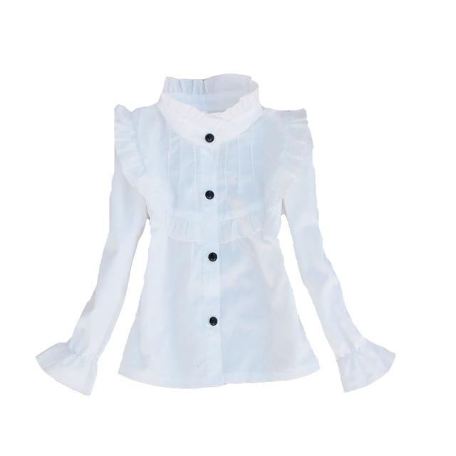 ffc1590ee € 12.05 |Camisas para niños pequeños de algodón Casual niños ropa  estudiantes blusas blancas para niñas adolescentes Tops 24 M 3 5 7 9 11 12  14 ...