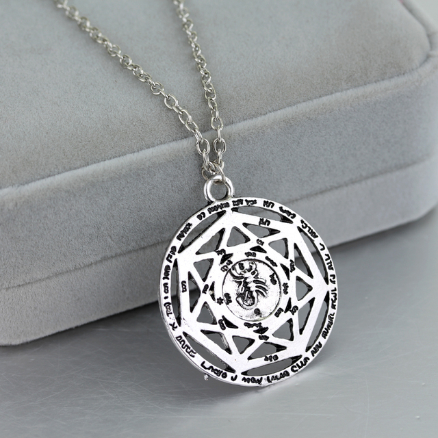Supernatural heptagram scorpion key of solomon necklace pentacle supernatural heptagram scorpion key of solomon necklace pentacle seal pagan wiccan pendants necklaces aloadofball