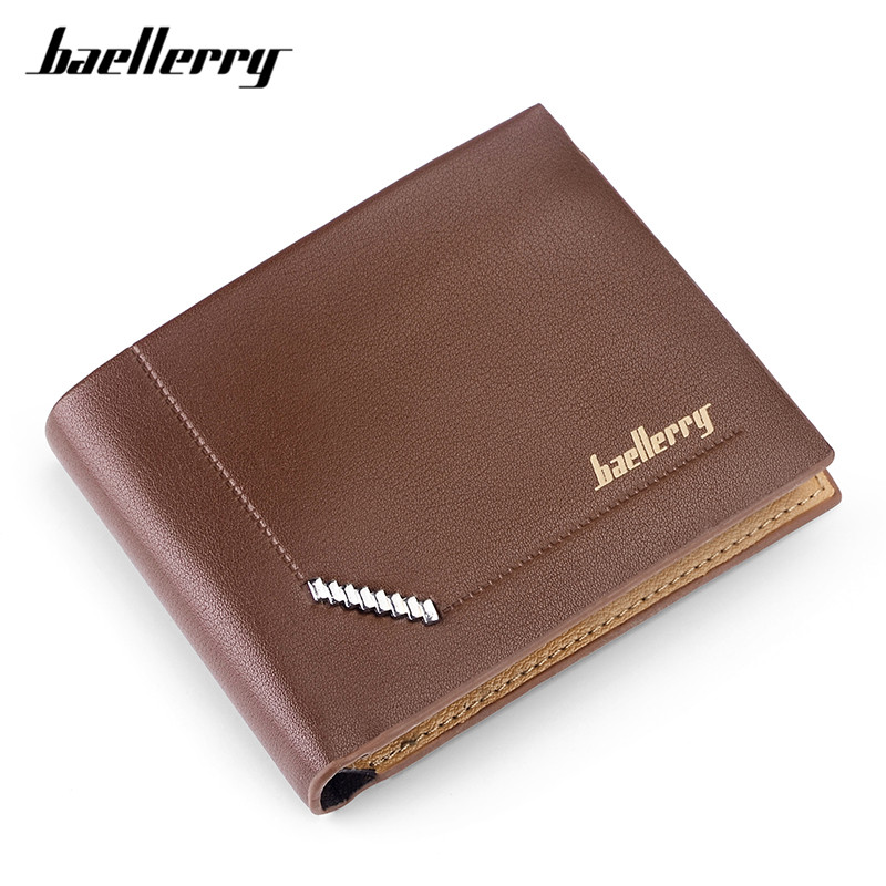Baellerry New Arrival Short Wallets For Men Famous Brand Designer Purse Male Portable Card Holder Small Wallet Carteira Monedero baellerry small mens wallets vintage dull polish short dollar price male cards purse mini leather men wallet carteira masculina