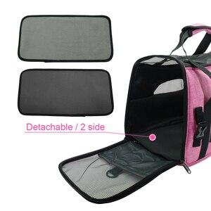 Image 5 - Bolsa de transporte portátil para perros y gatos, bolsa de viaje para cachorros, malla transpirable, portador de Chihuahua pequeño