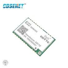SX1262 1W ไร้สาย Lora 915MHz E22 900M30S SMD หลุมแสตมป์ IPEX เสาอากาศ 850 930MHz TCXO RF เครื่องส่งสัญญาณและตัวรับสัญญาณ