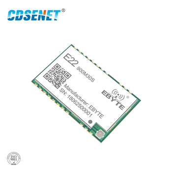 SX1262 1W Wireless Transceiver LoRa 915MHz E22-900M30S SMD Stamp Hole IPEX Antenna 850-930MHz TCXO rf Transmitter and Receiver cdebyte e22 900m30s sx1262 30dbm 915mhz smd wireless transmitter receiver stamp hole ipex antenna spi long range rf module