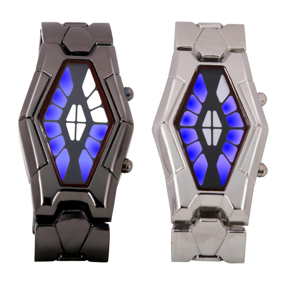 Retail - Fashion luxury watches LED watch iron man Retro Creative  snake watch for Men