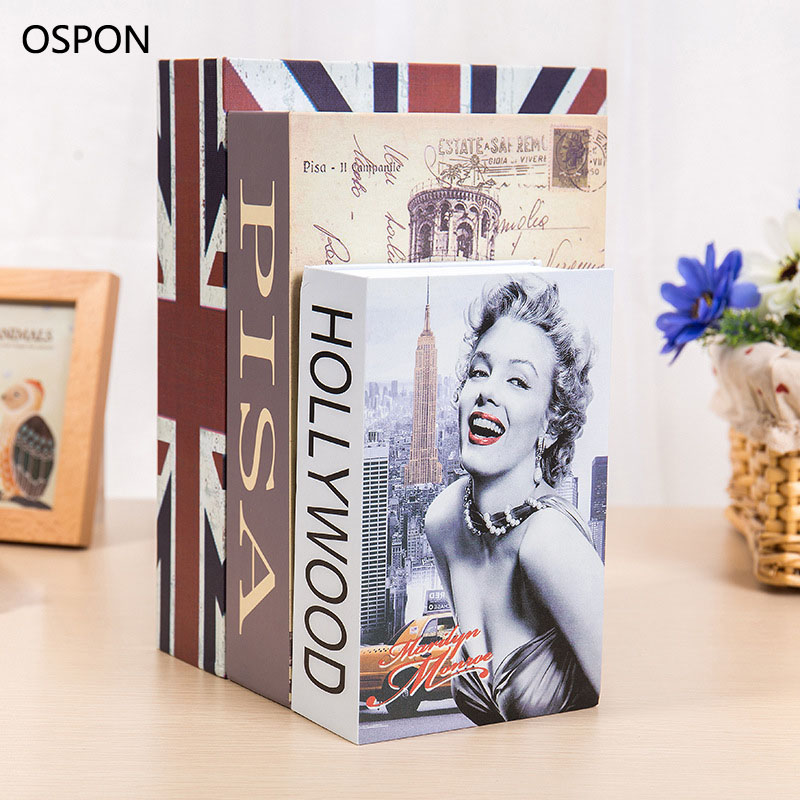 OSPON Book Safes Metal Steel Cash Secure Hidden Dictionary Booksafe Homesafe Money Box Coin Storage Secret Bank Password Size M купить недорого в Москве
