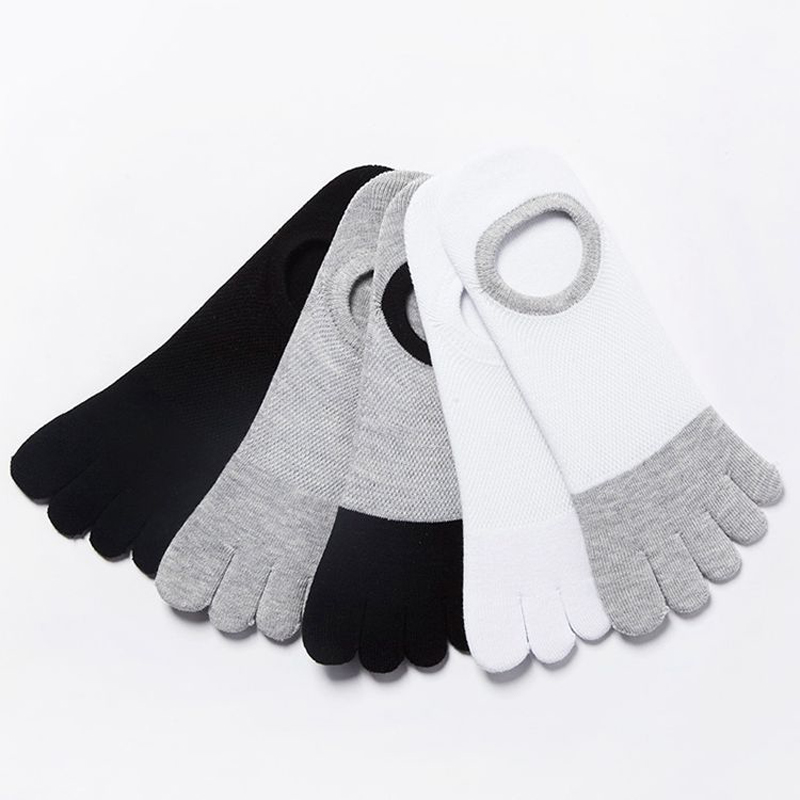 2019 NEW Hot Selling Men's Cotton Toe Sock Pure S Five Finger Socks Breathable Absorbent Deodorant Boat Sock Ship Sock 5Pair/lot