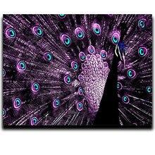 Animais pintura Diamante Rodada \ broca Quadrado Mosaico de Fotos a partir de cristais de Diamante bordado Cheio Pavão