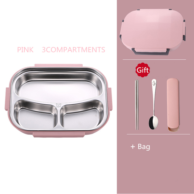 Pink 3 bag Cheap bento boxes 5c6479e2edeb1