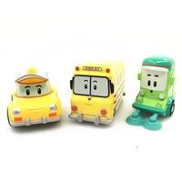 3Pcs Set New Arrival Robocar Poli Anime Figure Robot Car Toys Korea Toys Metal Model Car