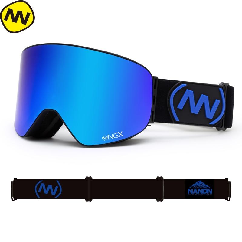 NANDN снег лыжные очки Для мужчин Для женщин Двойные линзы UV400 Анти-туман Лыжный Спорт очки снег очки для взрослых Лыжный спорт Сноуборд очки