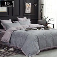 Texture Design Sanding 4pcs Bedding Sets Egyptian Cotton Satin Soft Warm Bed Linen Set Adult Warm Bed Cover Queen King Size Gift
