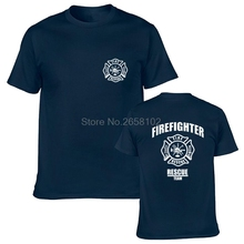 New Firefighter Rescue T shirt Men Women Police Funny Cotton Casual Short Sleeve O Neck T