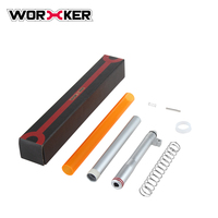 Worker Short Dart Kit For Nerf N Strike Exclusive Elite Alpha Trooper CS 12 High Quality Silver