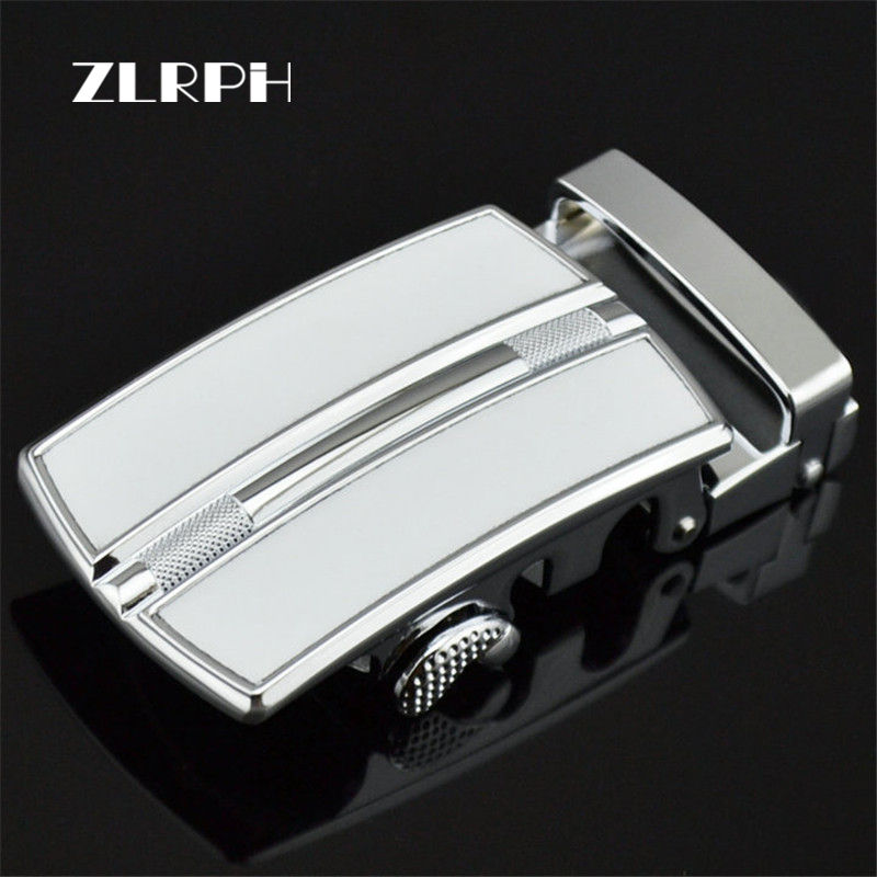 ZLRPH Men's Belt Buckle Brand Fashion Automatic Buckle White Genuine Leather Belts For Men Wholesale GZYY-LY0257