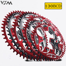 VXM Round Shape Narrow Wide 130BCD 50T 52T 54T56T 58T 60T Cycling Chainring Road Bike Chainwheel Bicycle Parts цена