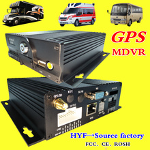 GPS MDVR 4CH dual SD card storage monitoring host AHD H.264 mobile dvr 8~36V wide voltage vehicle equipment