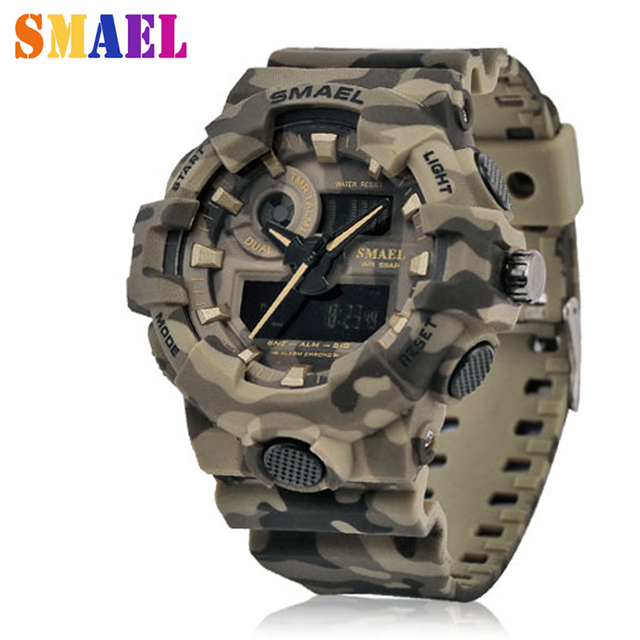 2018 New Brand Military Watches Mens LED Digital-watch G Style Watch Waterproof