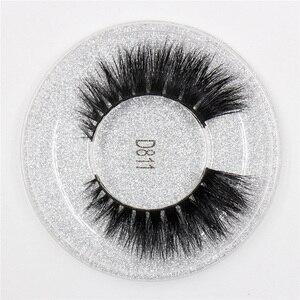 Image 4 - LEHUAMAO 50 זוגות ריסים מלאכותיים 3D מינק ריסים 100% בעבודת יד עין ריסים נדל מינק איפור עבה מזויף False ריסים משלוח DHL