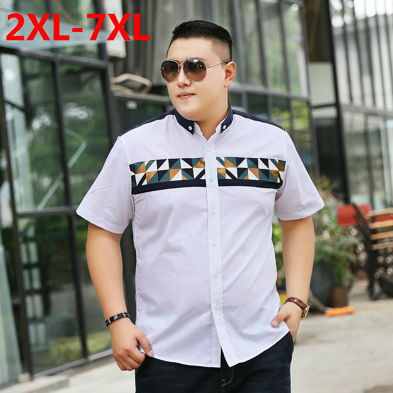 2018 new Plus size 9XL 8XL 7X 6XL 5XL Brand Clothing Short Sleeve Shirt Men Plaid Slim Fit 100% Cotton Casual Social Shirt Men