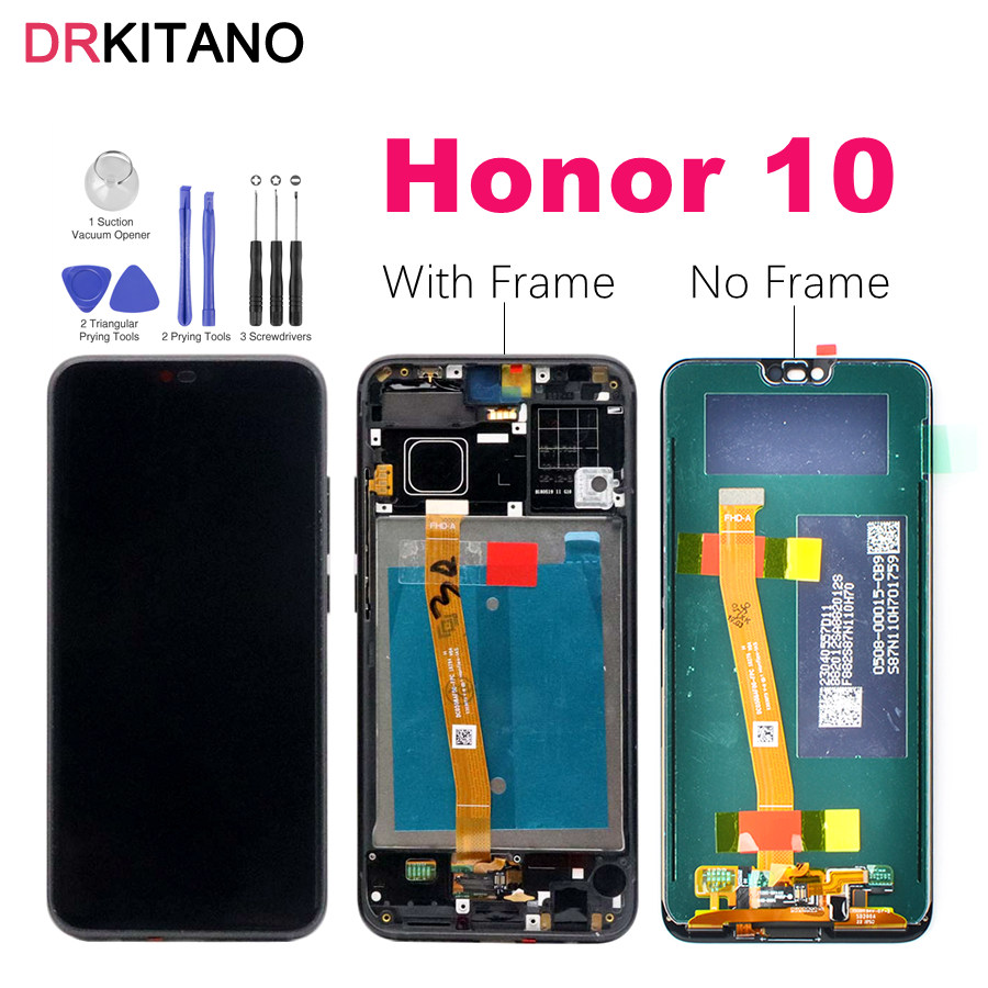 Original Screen Huawei Honor 10 LCD Display Touch Screen With Frame COL L29 For Huawei Honor
