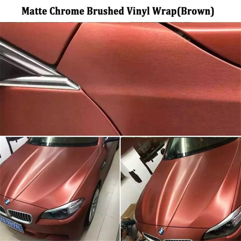 Chrome Mat Brossé Enveloppe De Vinyle Pour Voiture Body Wrap Foile avec bulles d'air 20 m * 152 CM par rouleau Intérieur décorer vente Chaude australie