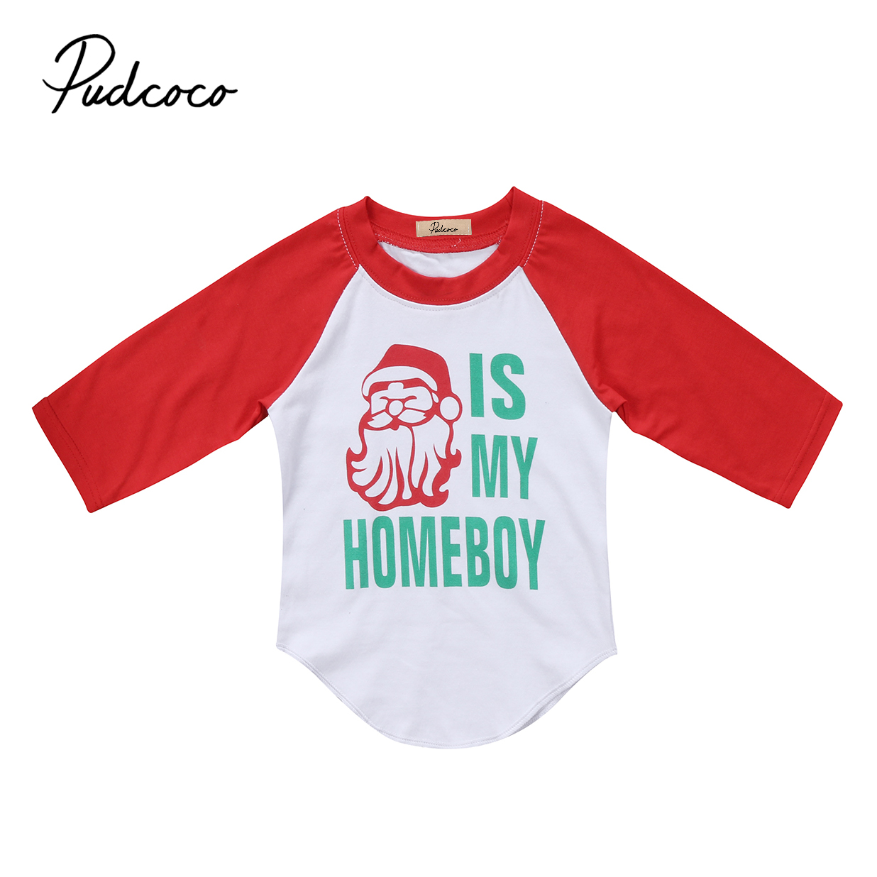 T-Shirt Long-Sleeve Toddler Baby-Boys-Girls Kids Cotton Xmas Casual Tops Festivel