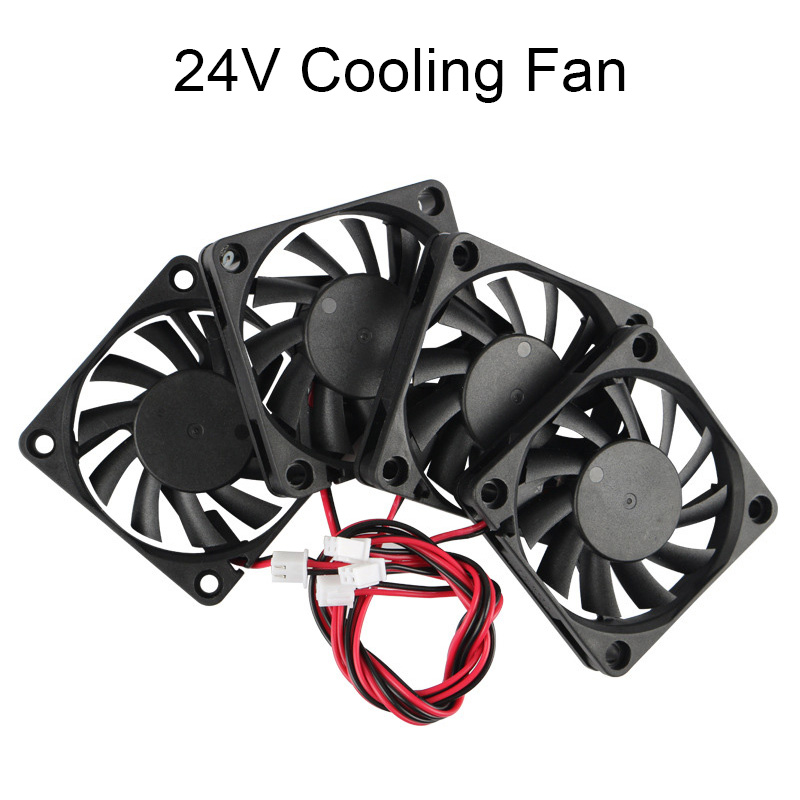 1/4Pcs <font><b>24V</b></font> USB 60mm <font><b>6010</b></font> DC Mini Cooling Cooler <font><b>Fan</b></font> Ball Sleeve Bearing 60x60x10mm EM88 image