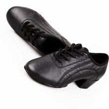 Genuine Leather Men Sport Dance Shoes Lightweight Dance Sneakers Students Boys Training Dance Shoes Men Latin Dancing Shoes Men