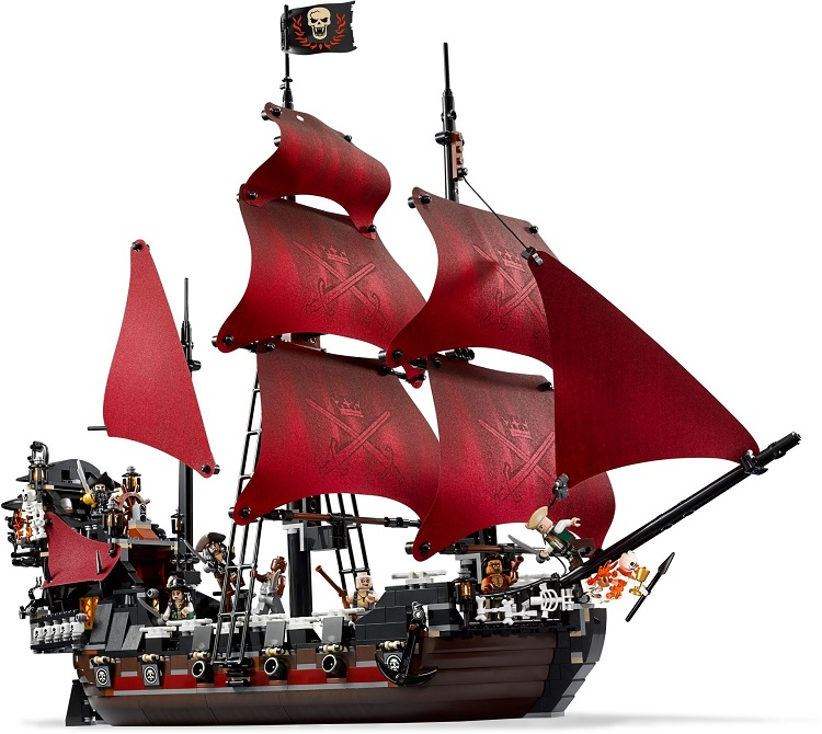 The Queen Anne's Revenge Pirates of The Caribbean Building Block Brick Toy Compatible with Legoingly 4195 for Children lepin 16009 the queen anne s revenge pirates of the caribbean building blocks set compatible with legoing 4195 for chidren gift