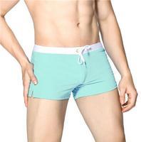 Light blue-Swimwear Men Boxer Shorts Swim Trunks Swimming Surf