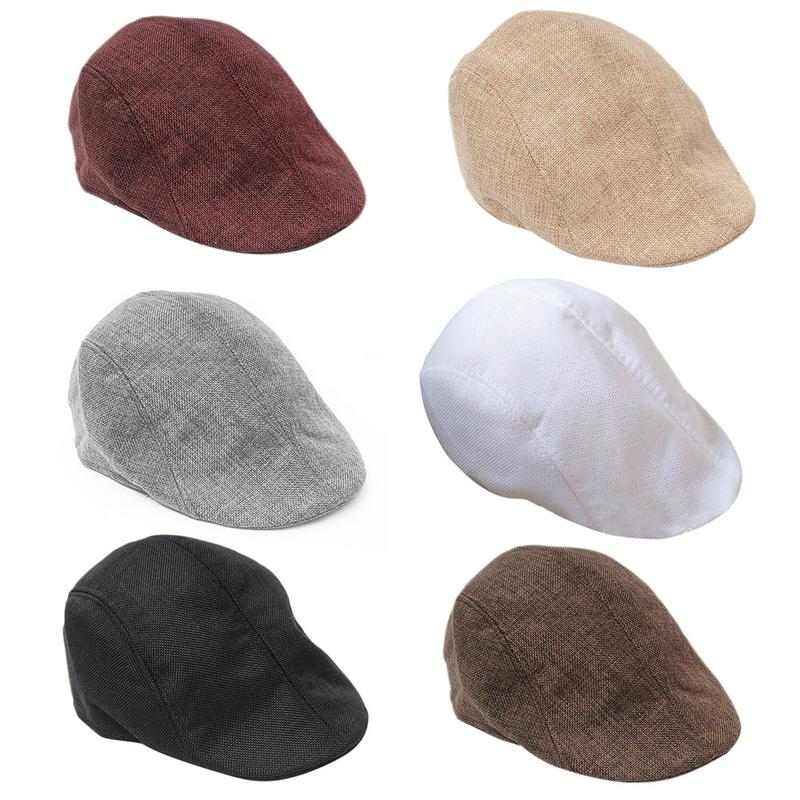1pc Fashion Casual Unisex Duckbill Caps Men Women Driving Sun Flat Cabbie Newsboy Beret Hat Causal Gatsby Ivy Cap