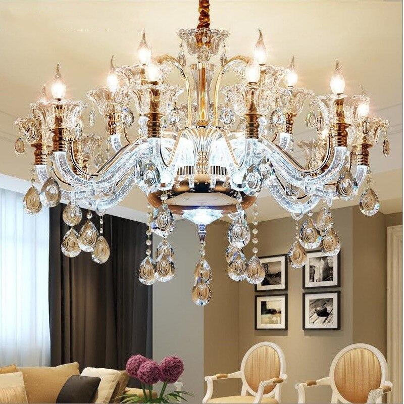 New High Grade European Crystal LED Large living Room