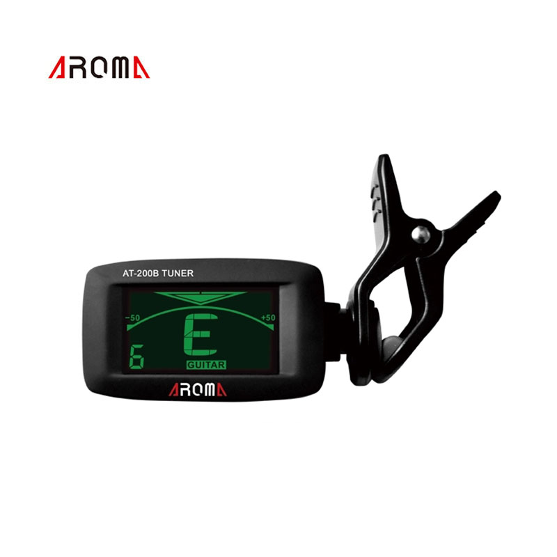 Aroma AT-200D Portable Guitar Tuner Color Screen Digital Tuner Clip On Design for Chromatic Guitar Bass Ukulele Violin sews et33 portable guitar tuner color screen digital tuner clip on design for chromatic guitar bass ukulele violin free shipping