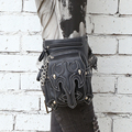 Steel master steampunk unisex men and women Messenger shoulder bag travel female waist bag casual leg bag