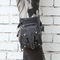 Steel master steampunk unisex men and women Messenger shoulder bag travel female waist bag casual leg bag