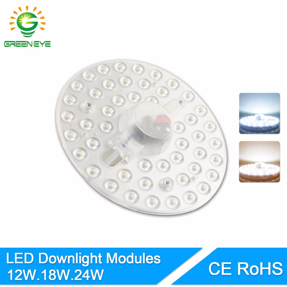 GreenEye Long Life 12W 18W 24W LED Panel Ceiling Light Lamp Replace Downlight Accessory Magnetic Source Light Board Bulb 220V