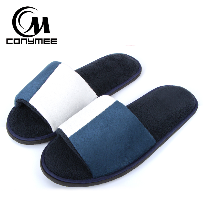 CONYMEE Home Slippers Man 2018 New Couple Travel Hotel Shoes Casual Sneakers Coral Velvet Men Women Indoor Soft Slipper Pantufas