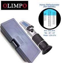 Olimpo Мед рефрактометр 58-90% Brix 38-43 'C Be Baume 12-27% воды 3in1 весы тестер пчеловод варенье сироп управление RH-5890BE