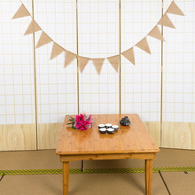 2019 NEW 3m Vintage Wedding Decoration Banner Background 13 Flags Burlap Bunting Banner DIY Garland Home Party Festival Decor
